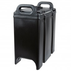 Cambro Camtainer® Black Insulated Soup Carrier, 3.375 Gal. #350LCD110