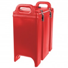 Cambro Camtainer® Hot Red Insulated Soup Carrier, 3.375 Gal. #350LCD158