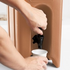 Cambro Camtainer® Coffee Beige Insulated Beverage Dispenser, 18 Lit\4.75gal #500LCD157