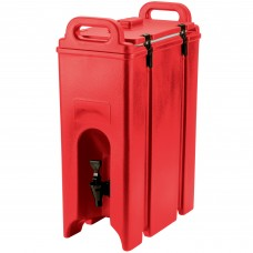 Cambro Camtainer® Hot Red Insulated Beverage Dispenser, 18 Lit\4.75gal #500LCD158