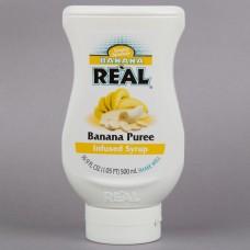 Real® Banana Puree Infused Syrup, 500ml\16.9 fl. oz. #115REALBANAN
