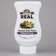 Real® Passion Fruit Puree Infused Syrup, 500ml\16.9 fl. oz. #115REALPSNFR