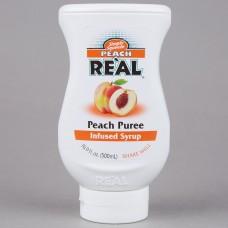 Real® Peach Puree Infused Syrup, 500ml\16.9 fl. oz. #115REALPEACH