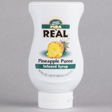Real® Pineapple Puree Infused Syrup, 500ml\16.9 fl. oz. #115REALPINAP