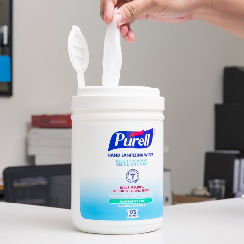 Purell® Alcohol Formulation Sanitizing Wipes 175 Count Canister #9031-06