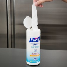 Purell® Sanitizing Wipes Canister, 100 Count #9111-12