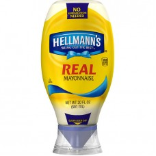 Hellmann's® USA Real Mayonnaise, Squeeze Bottle, 20 oz  #1113382