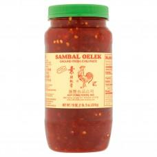 Huy Fong Foods® USA Sambal Oelek Ground Fresh Chili Paste, 18 oz #024463061088
