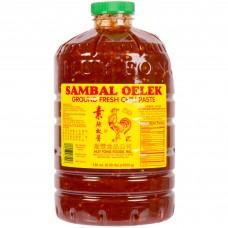 Huy Fong Foods® USA Sambal Oelek Fresh Ground Chili Paste 8.5 lb. #101241