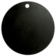 """Elite Global Solutions Eco Serving Boards Black Round Melamine / Bamboo Board w\Finger Hole 15 1/2"""" #ECO155R-B"""