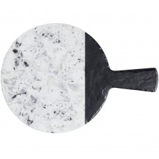 """Elite Global Solutions Faux Slate and Marble Round Serving Board  12"""" with Handle #M12RWSM"""