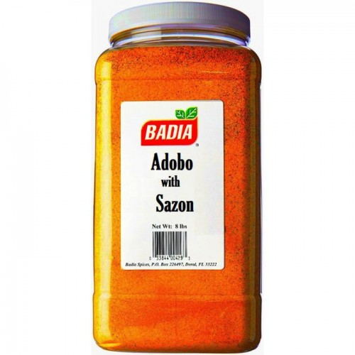 Badia Adobo Seasoning with Sazon 8Lbs  #BA00429