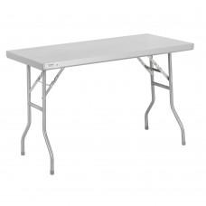 """Regency 18-Gauge Stainless Steel Open Base Folding Work Table 24"""" x 48"""" #600FWT2448"""