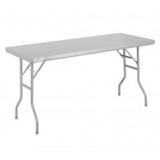 """Regency 18-Gauge Stainless Steel Open Base Folding Work Table 24"""" x 60"""" #600FWT2460"""