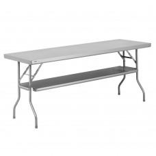 "Regency 18-Gauge Stainless Steel Folding Work Table with Removable Undershelf 24"" x 60"" #600FWT2460US"