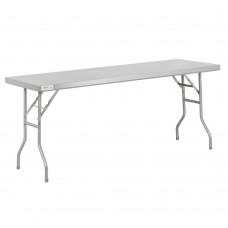 """Regency 18-Gauge Stainless Steel Open Base Folding Work Table 24"""" x 72"""" #600FWT2472"""
