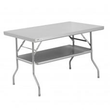 "Regency 18-Gauge Stainless Steel Folding Work Table with Removable Undershelf 30"" x 48"" #600FWT3048US"
