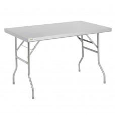 """Regency 18-Gauge Stainless Steel Open Base Folding Work Table 30"""" x 48"""" #600FWT3048"""