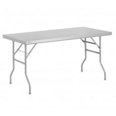 """Regency 18-Gauge Stainless Steel Open Base Folding Work Table 30"""" x 60"""" #600FWT3060"""