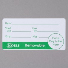 """Noble Products 2"""" x 4"""" Removable Day Label - 500/roll #991396"""