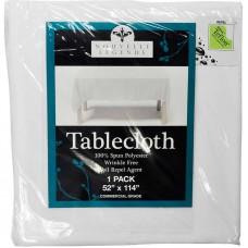 """Nouvelle Legende Tablecloth, 52"""" x 114"""", White #NLTTL1"""