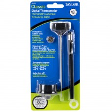 """Taylor Classic Instant Read High Temperature Pocket Thermometer with 5"""" Probe and Rubber Boot #9841RB"""
