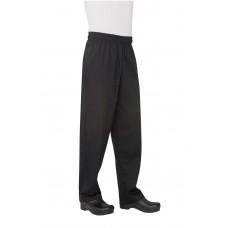 Basic Baggy Black Chef Pants Size L #NBBPL
