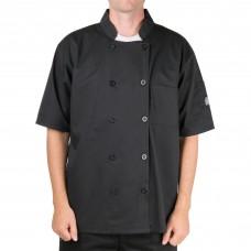 Chef Revival® Bronze Black Unisex Chef Coat, L-size #J109BK-L