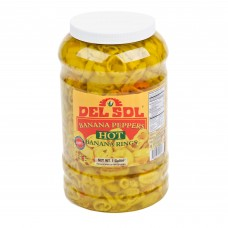 Del Sol® Hot Banana Peppers 1 Gallon #4004727