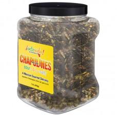 EntoVida® Chapulines Sal y Limón/Toasted Grasshoppers 1lb Jar #EnViSLChplns1lb