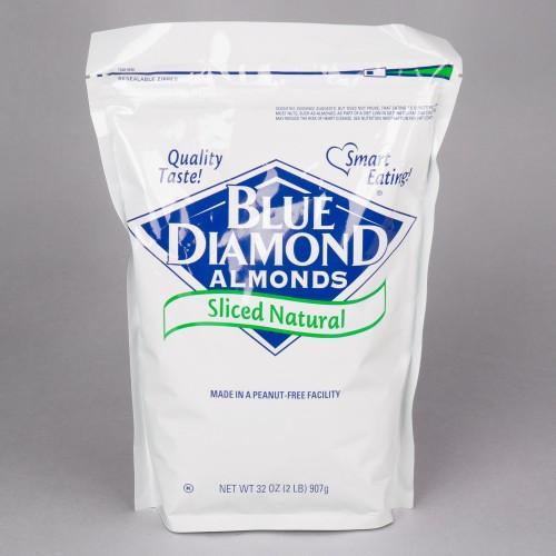 Blue Diamond® Raw Sliced Almonds, 2 lb. #113992531