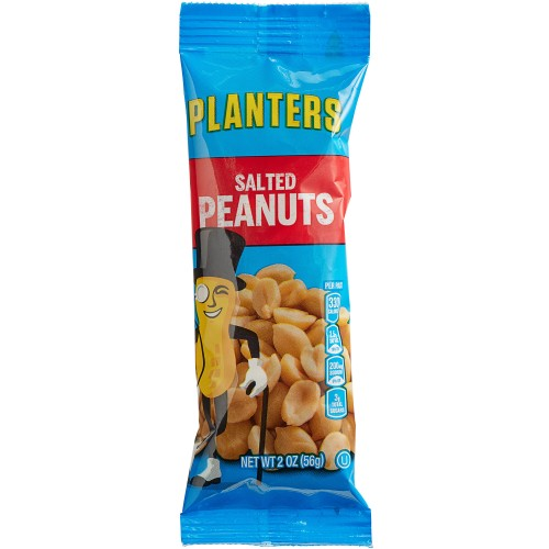 Planters® Roasted & Salted Peanuts 2 oz. Individual Bags - 144/Case