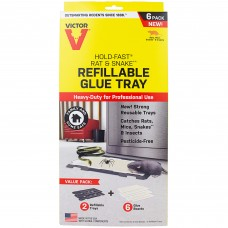 Victor® Pest Hold-Fast® Rat Glue Tray pack of 6 #M776