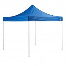 Galaxy Equipment® Straight Leg Instant Canopy Deluxe Kit with 4 Side Walls, 10' x 10', Blue #554GBP10KTBL