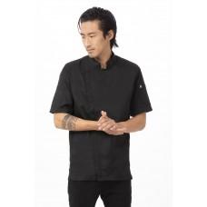 Chef Works® Springfield™ Cool Vent™ Chef Coat Black 2XL Size #BCSZ009-BLK