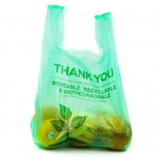Green Herc® Biodegradable Plastic T-Shirt Bag, 1/6 Size  - 500/Case #433NHTBIO