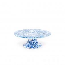 Crow Canyon Home Splatter Cake Platter Blue Splatter#D100DBM