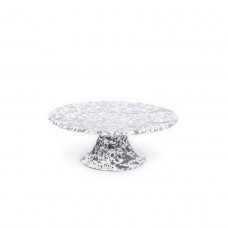 Crow Canyon Home Splatter Cake Platter Grey Splatter#D100GYM