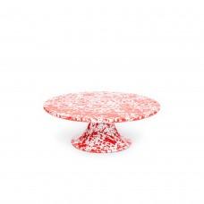 Crow Canyon Home Splatter Cake Platter Red Splatter#D100RM