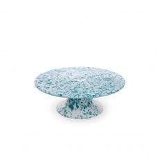 Crow Canyon Home Splatter Cake Platter Turquoise Splatter#D100TQM