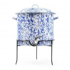Crow Canyon Home Splatter Beverage Dispenser BLUE with Rack 14 1⁄2 qts #D300DBM
