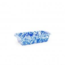 Crow Canyon Home Splatter Loaf Pan Blue Splatter#D32DBM
