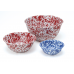 Crow Canyon Home Red Splatter 16 oz Small Footed Bowl#D02RM