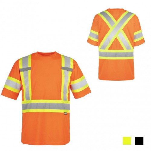 Holmes® Workwear HI-VIS T-Shirt, Orange, Size L