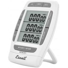 San Jamar® Escali® Digital 3 Channel 20 Hour Kitchen Timer with Clock #TMDGTE