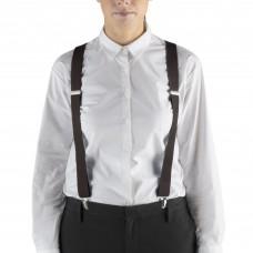"""Henry Segal® Elastic Clip-End Suspenders, 1 1/8"""" - Brown #HS9-303"""