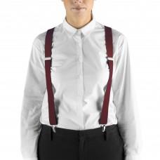 """Henry Segal® Elastic Clip-End Suspenders, 1 1/8"""" - Burgundy #HS9-303"""