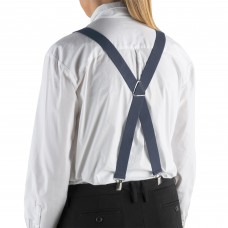 """Henry Segal® Elastic Clip-End Suspenders, 1 1/8"""" - Dark Grey #HS9-303"""