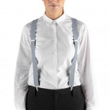 "Henry Segal® Elastic Clip-End Suspenders, 1 1/8"" - Light Grey #HS9-303"