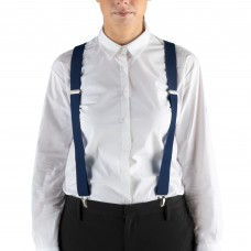"""Henry Segal® Elastic Clip-End Suspenders, 1 1/8"""" - Navy #HS9-303"""